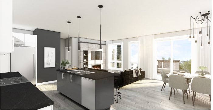 Espace-D est le projet de condos neufs à vendre le plus en demande à Terrebonne, et il est construit par les Entreprises Daunais Inc..